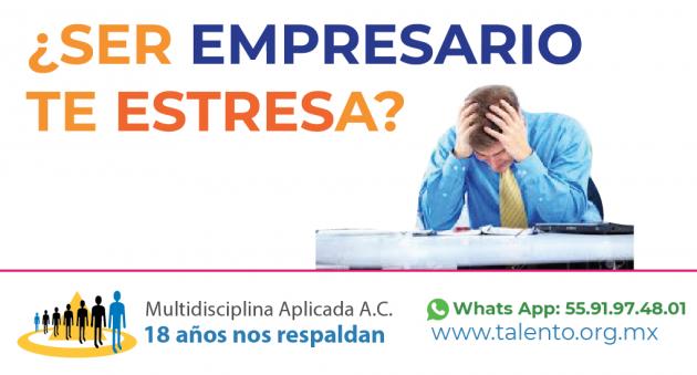 ¿Ser empresario te causa estrés?